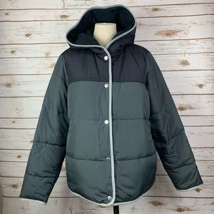 Abercrombie & Fitch Snap Front Puffer Coat Jacket